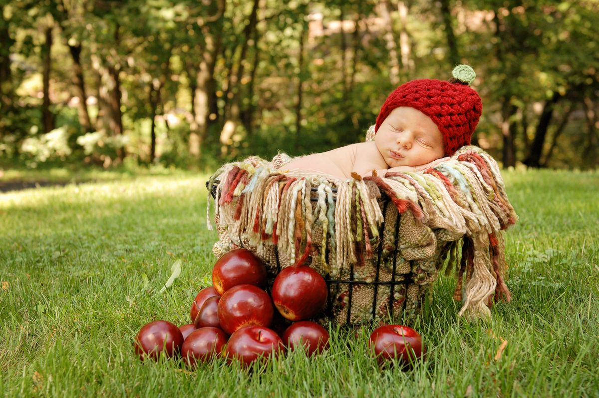 Fall Apple newborn