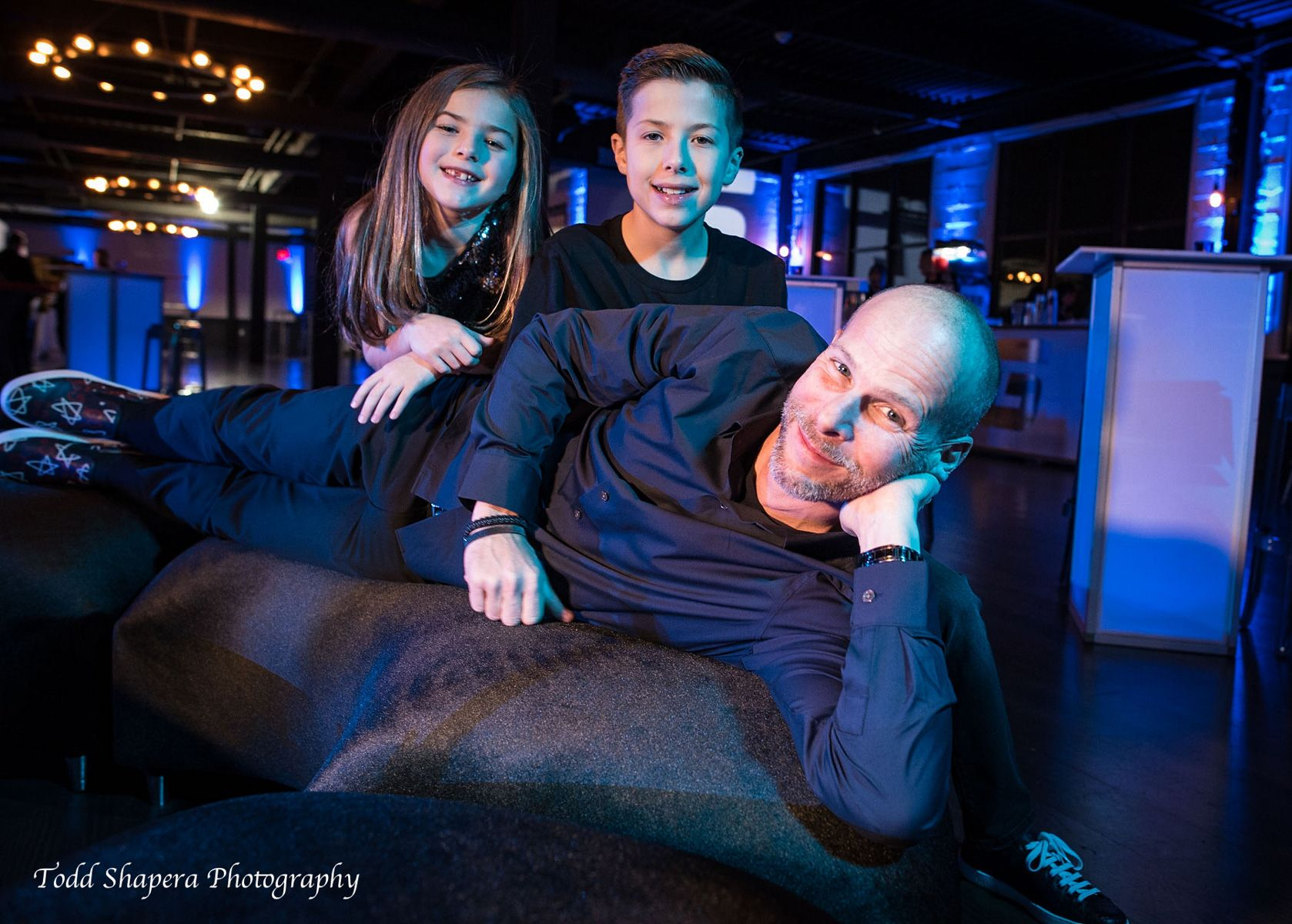 Family Bar Mitzvah Portrait at Hudson Loft