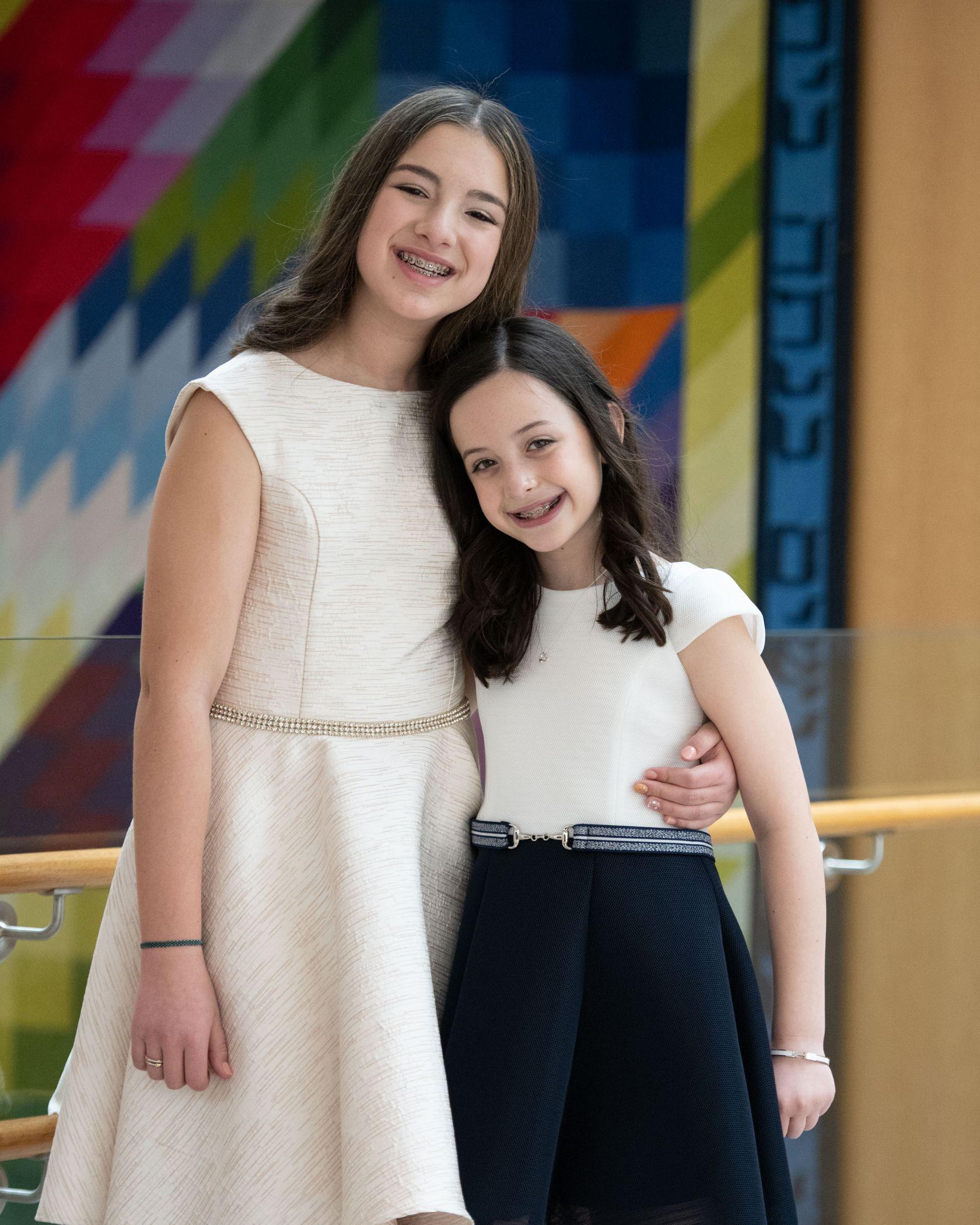 Bat Mitvah Portraits With Sister