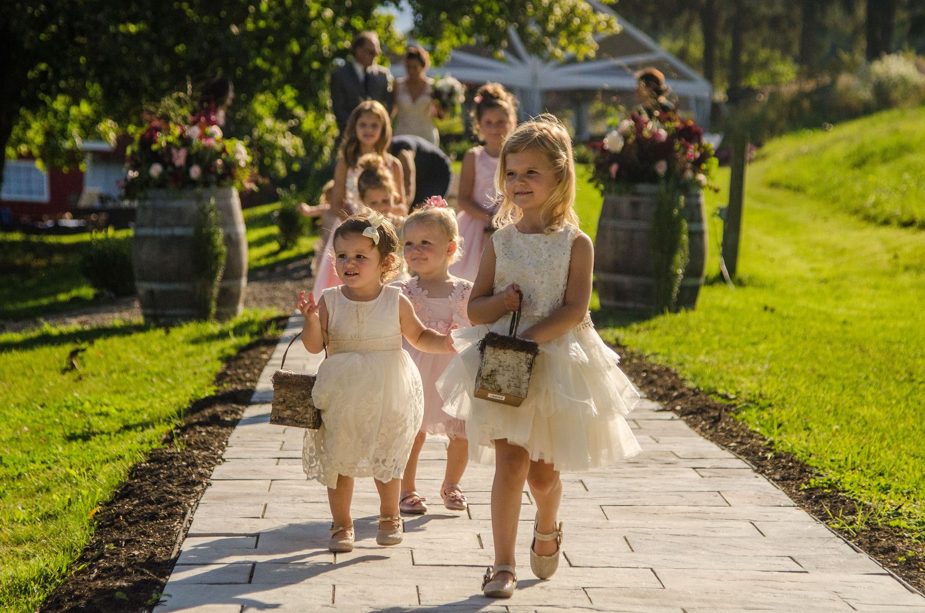 Flower Girls at a Finger Lakes Wedding
