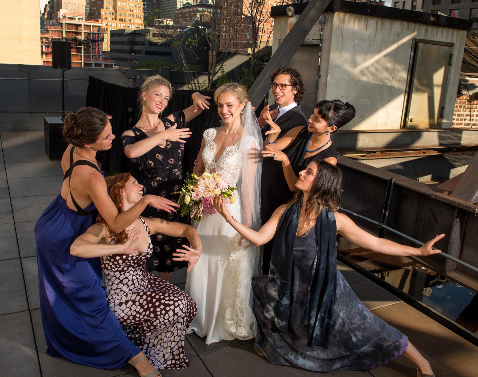 The Dancing Bridesmaids'  Serenade  The Bride