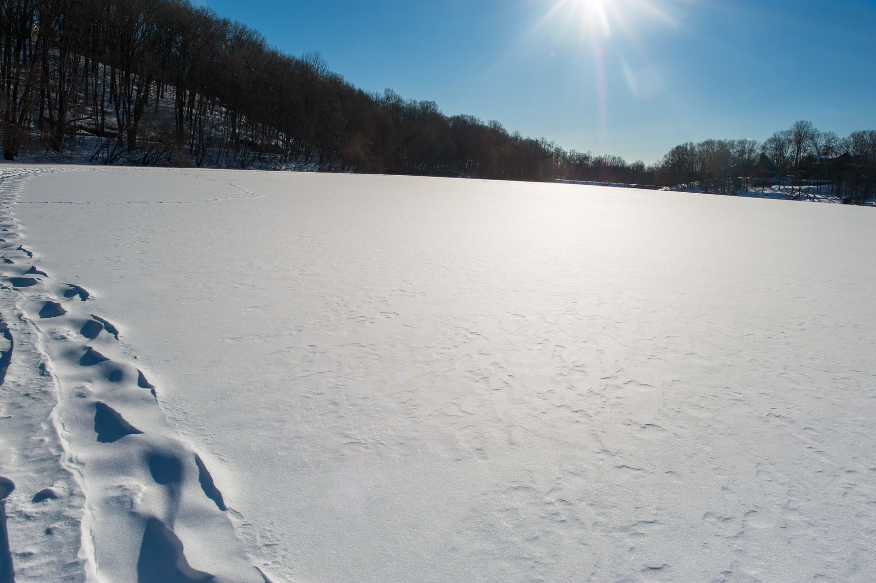 Frozen Pocantico Lake