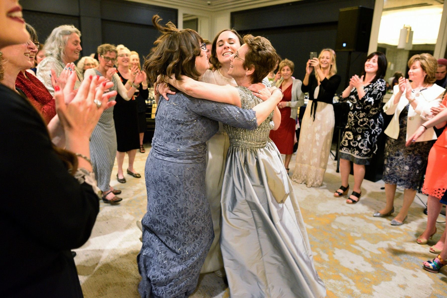 Bride and Her Moms, Modern Orthodox Wedding