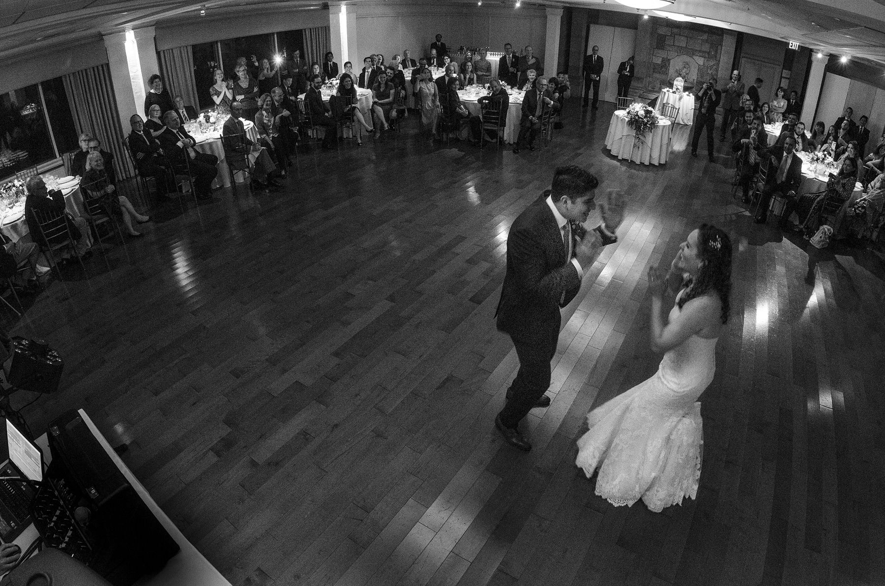 Elegant First Dance In Black and White