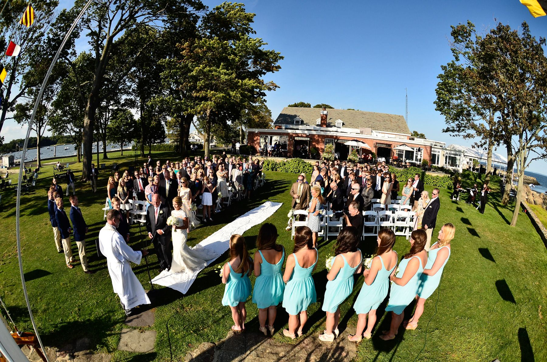 American Yacht Club  Wedding  On The Lawn