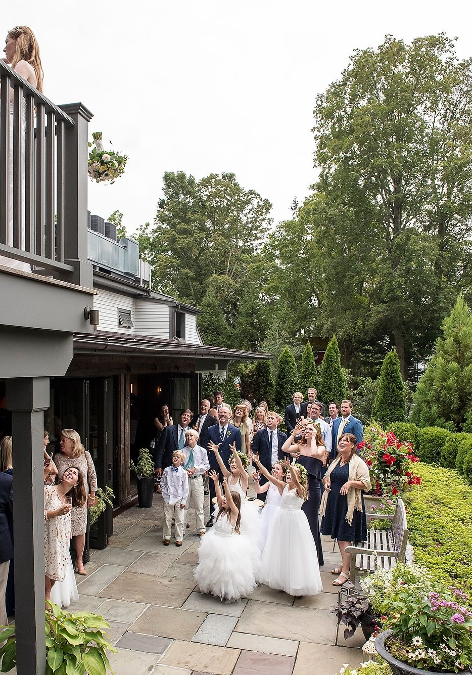 Garden Bouquet Toss at Inn at Pound Ridge