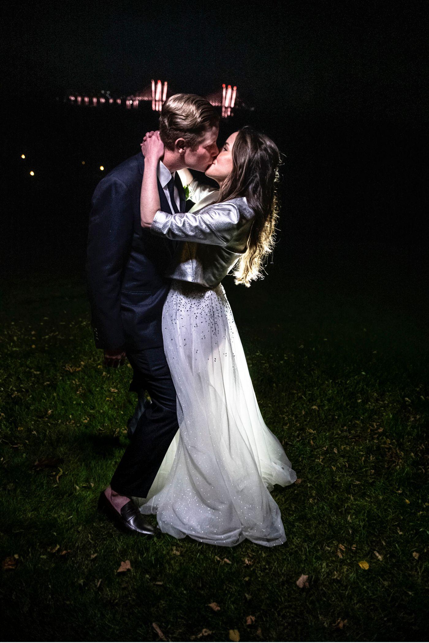 Starry Night Wedding Kiss