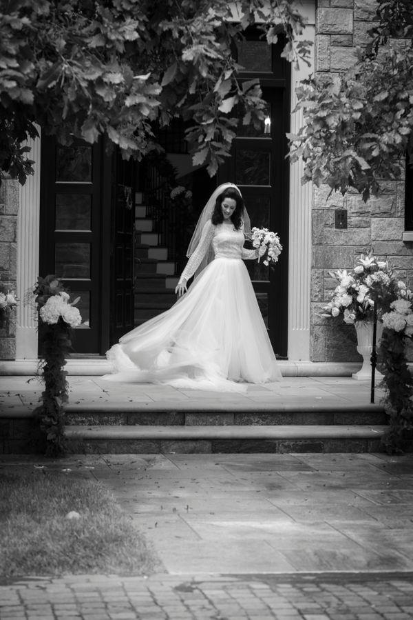 Elegant Bride In The Doorway