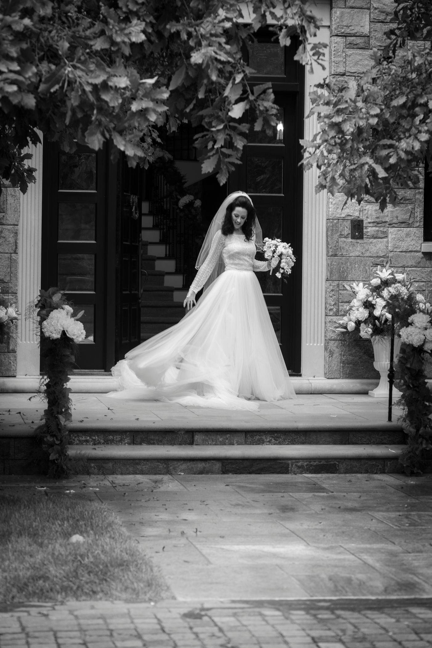 Elegant Bride In The Doorway