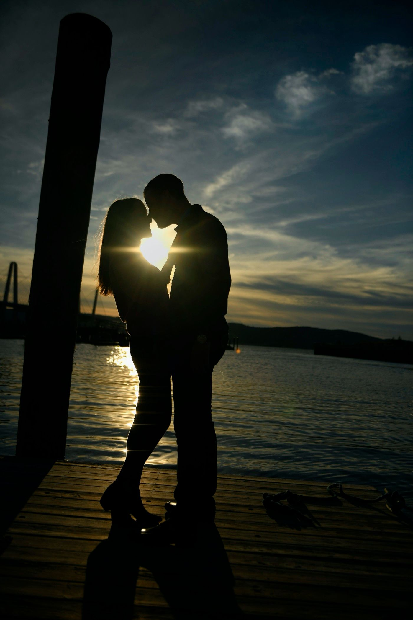Waterfront Sunset Engagement