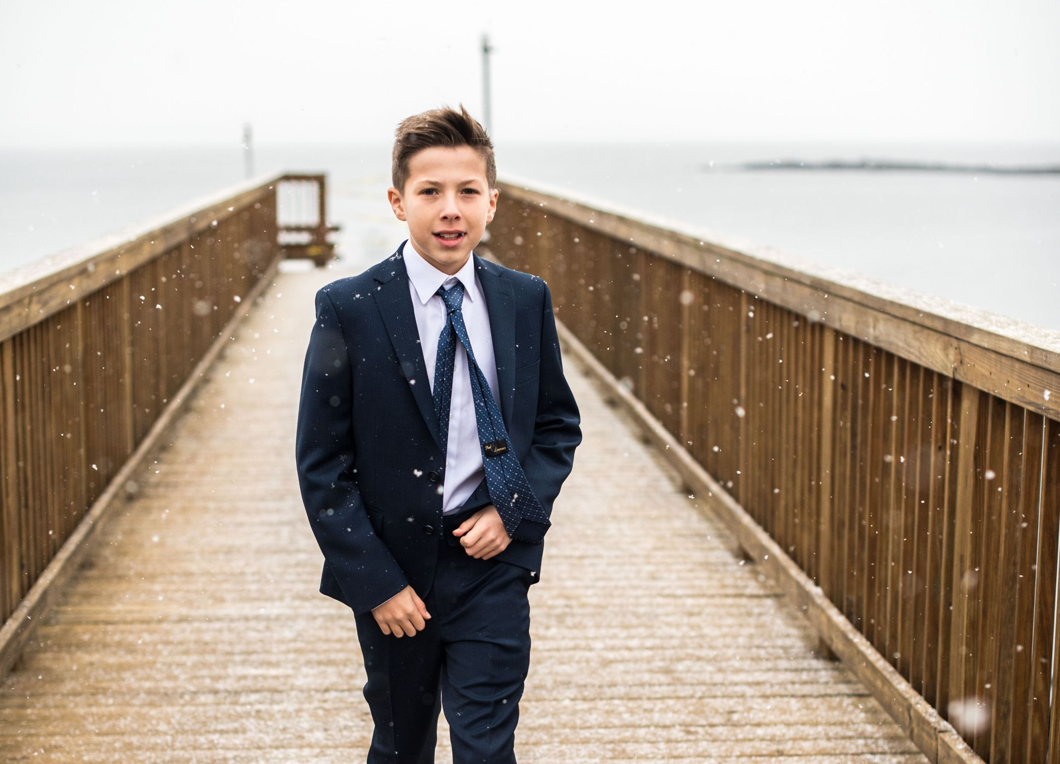 A Westchester Bar Mitzvah Portrait In Winter