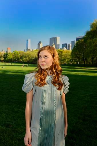 New York Bat Mitzvah Portrait In Central Park.