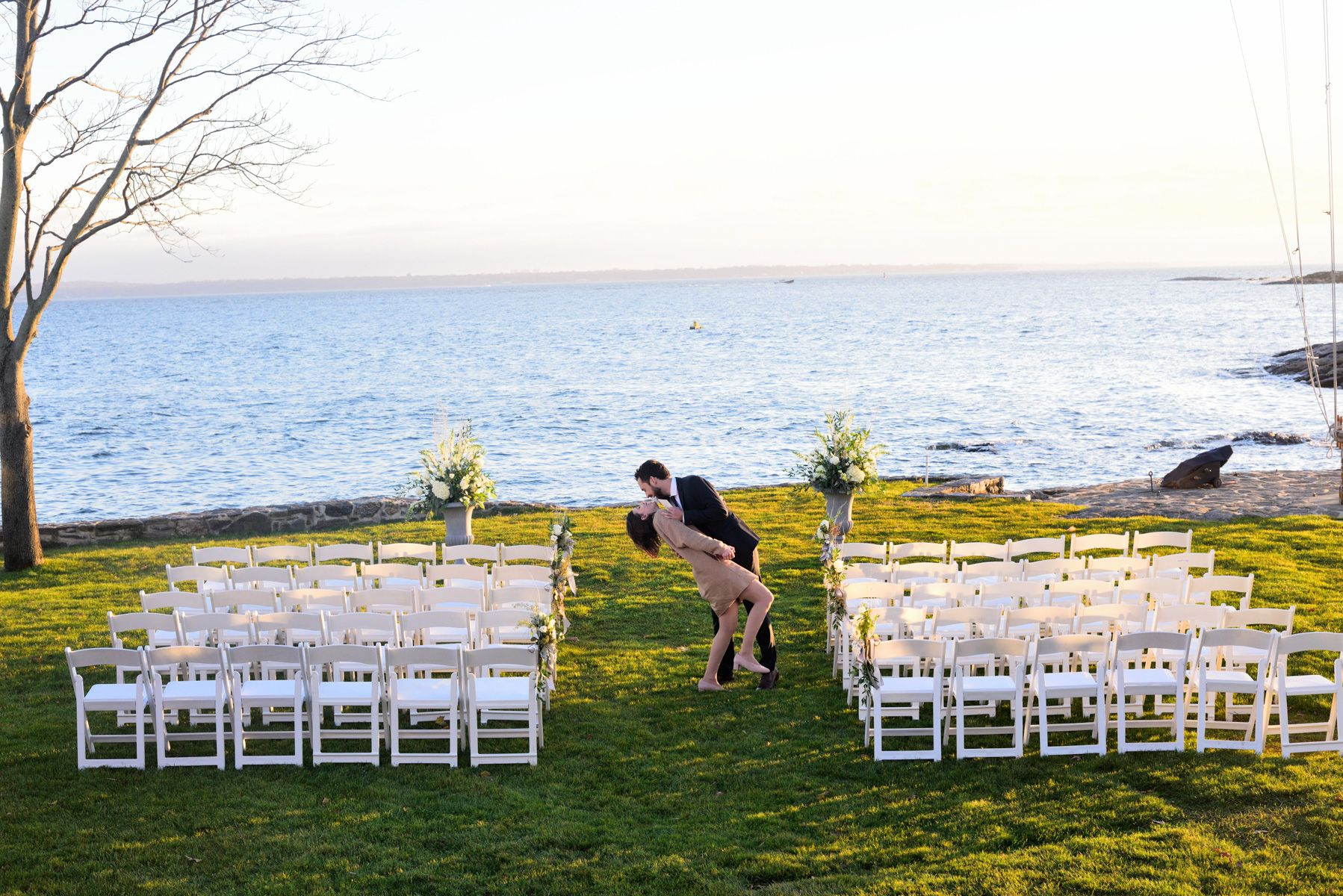 Waterfront Ceremony on Long Island Sound