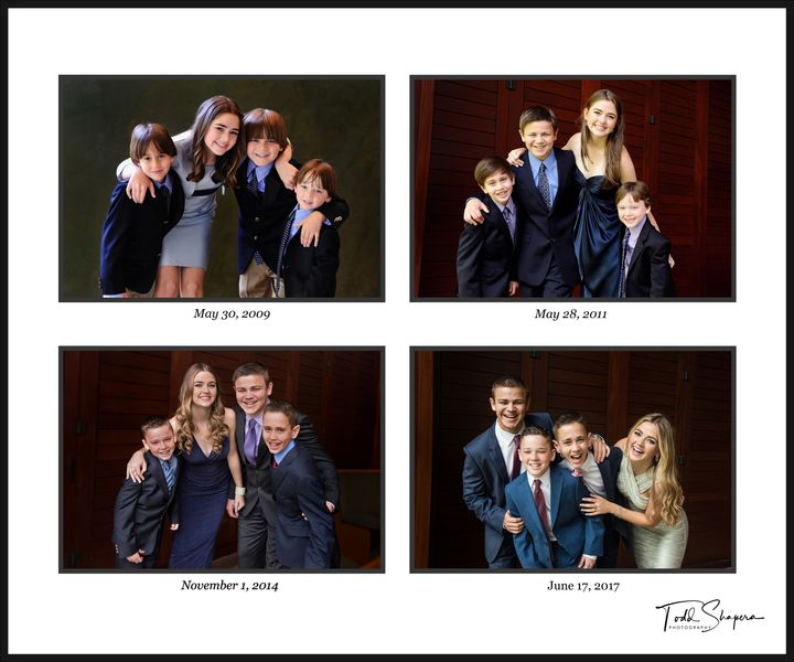 Portraits Of Four Siblings, Four Times, Ten years