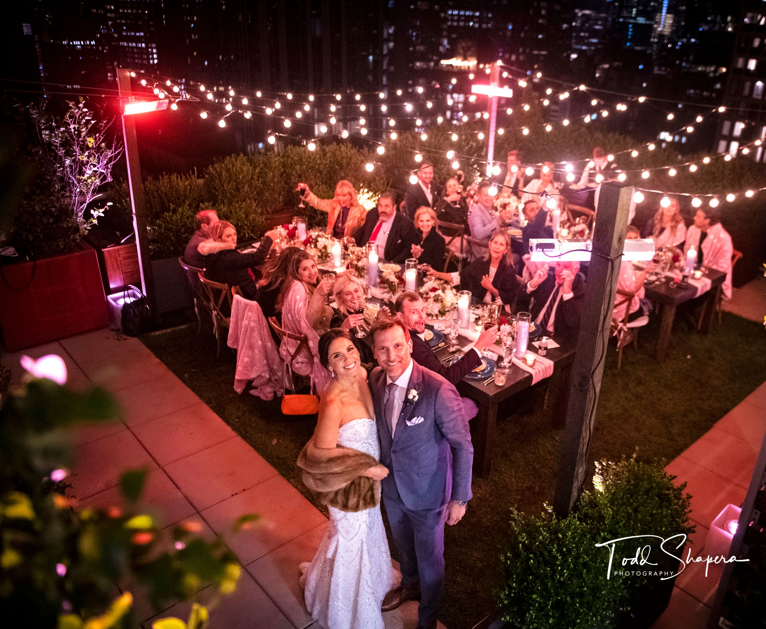 A New York Rooftop Reception