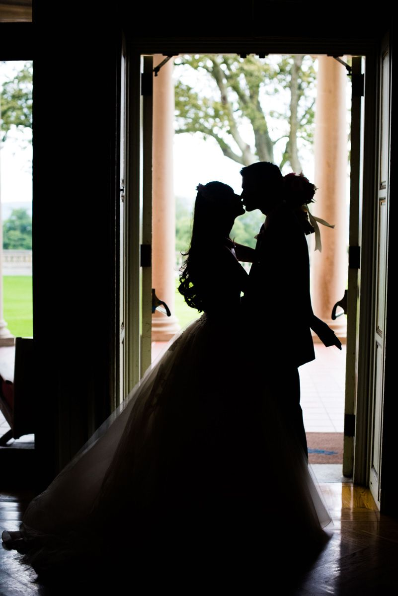 Sleepy Hollow Wedding Kiss in Silhouette