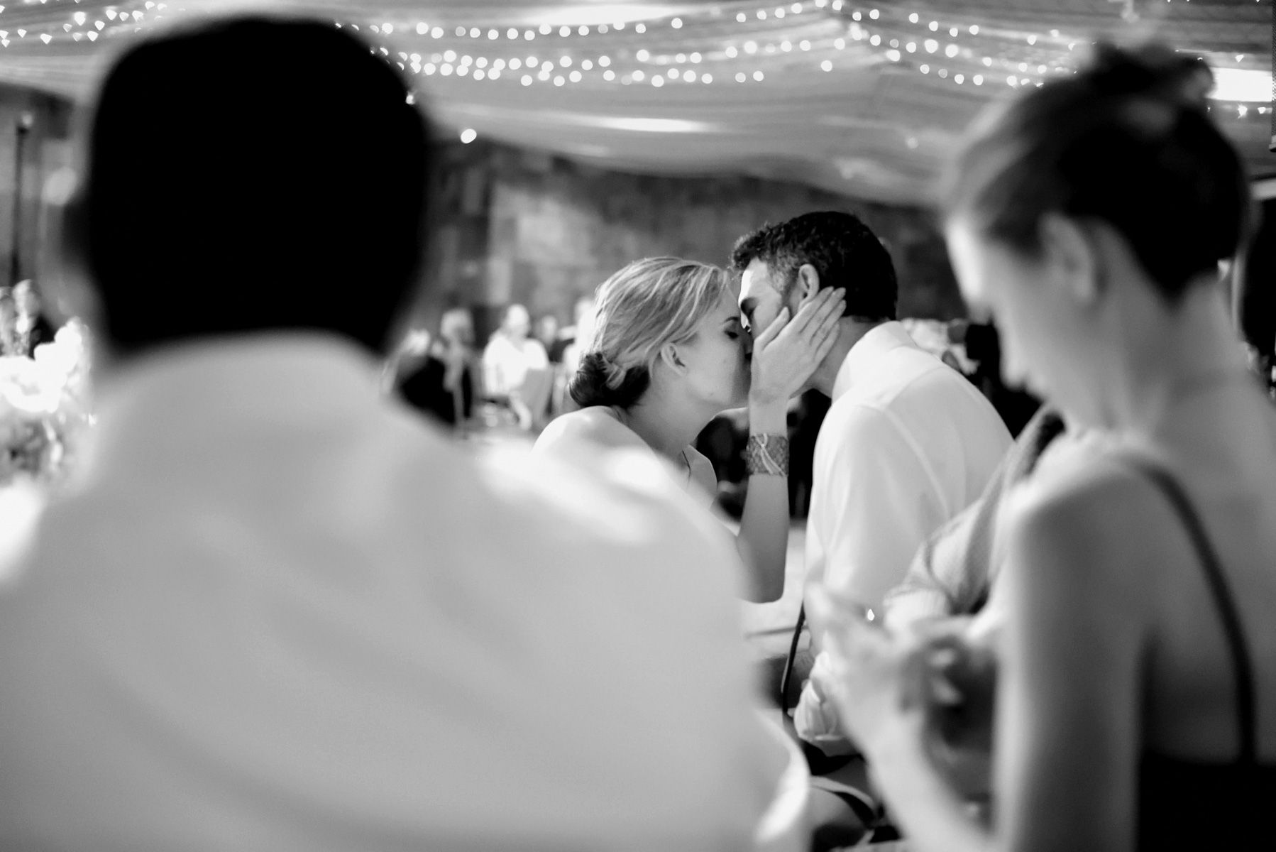 New York Wedding - Guests Kissing