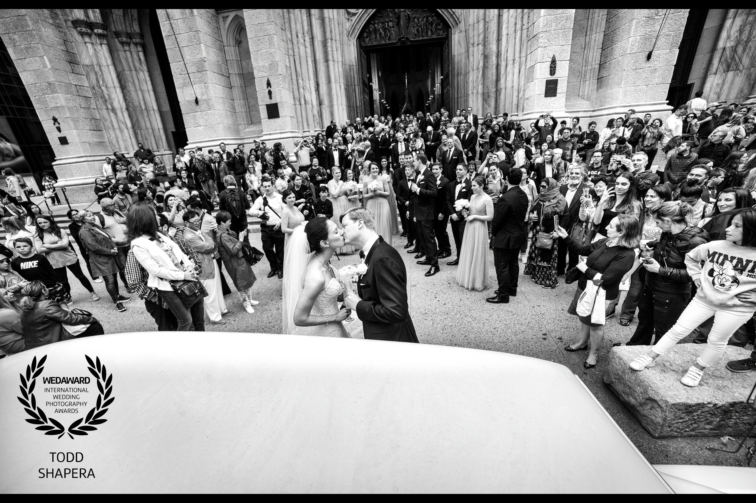 St. Patrick's Cathedral - Just Married Kiss