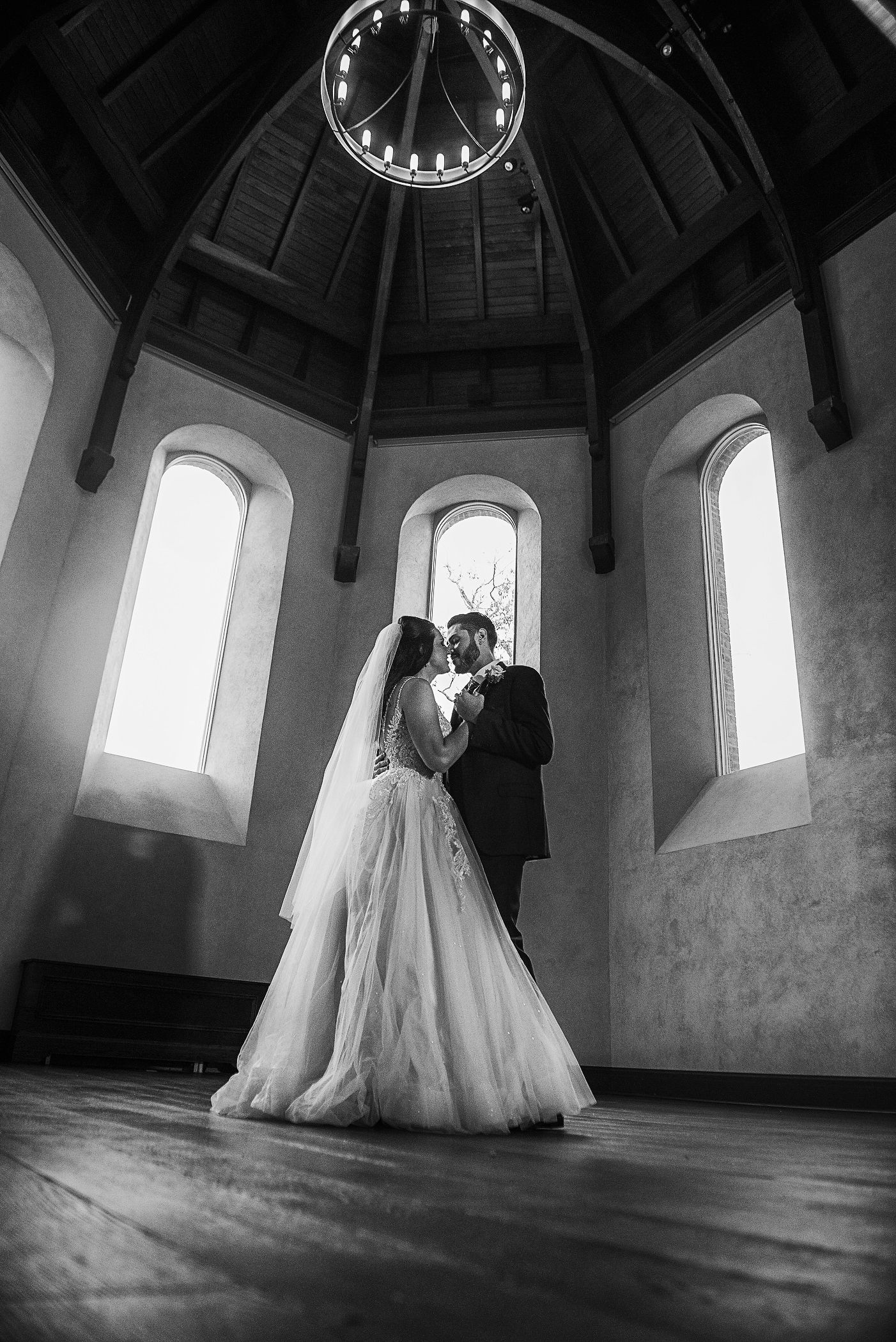 A Covid19 Mini-Wedding Dance In Black and White