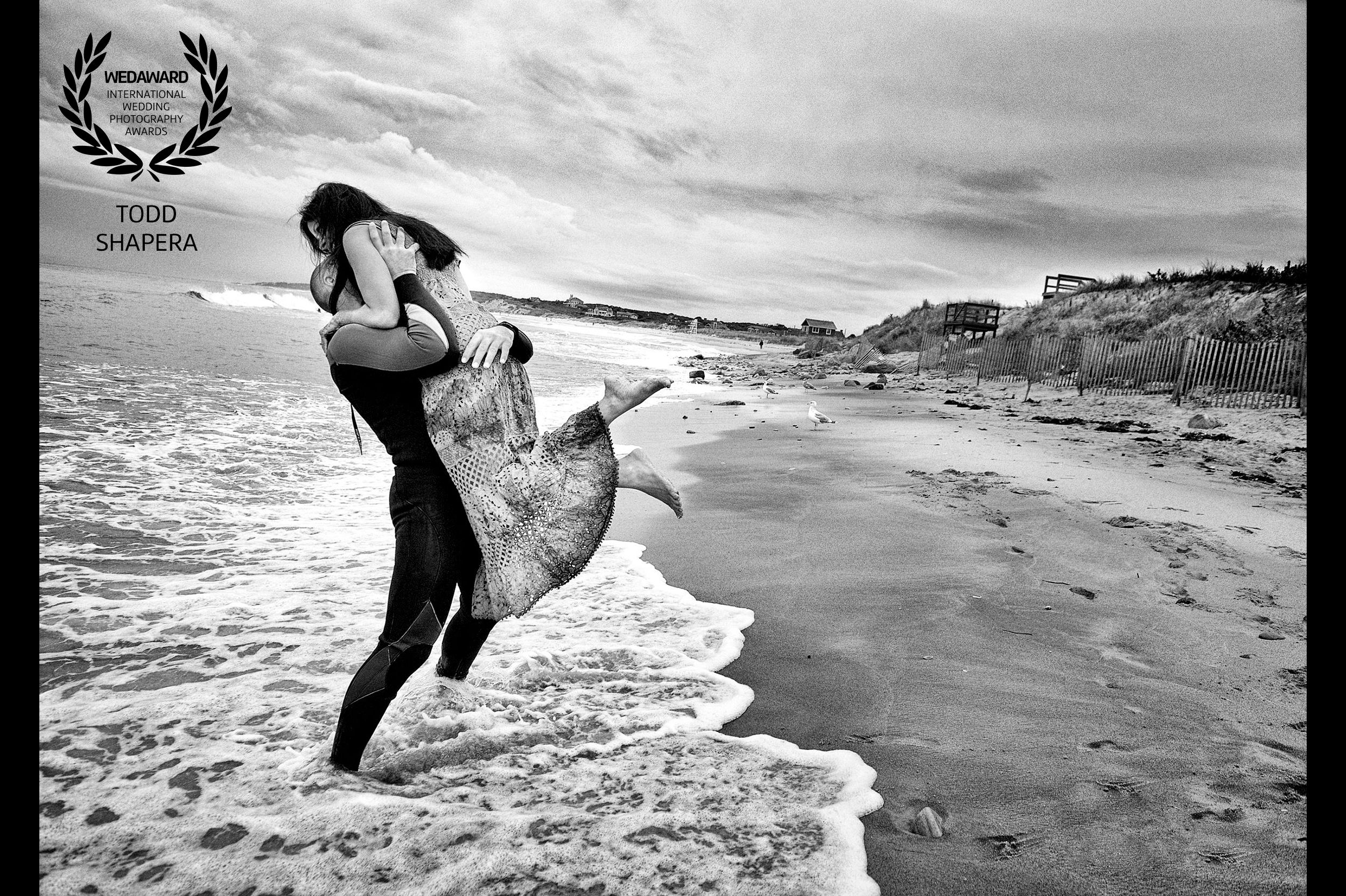 Wedding Morning Embrace In The Waves