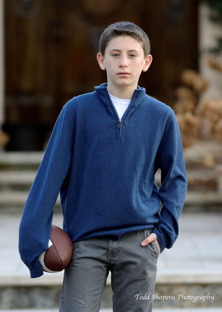 Westchester Bar Mitzvah Portrait  With Football