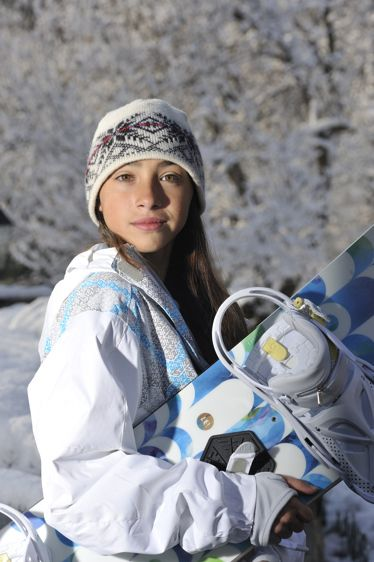 Westchester Bat Mitzvah Portrait with snowboard