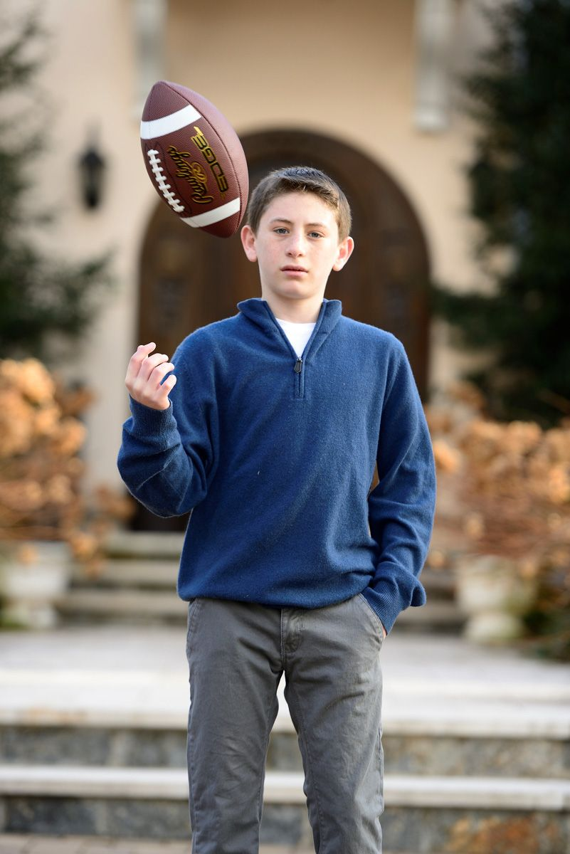 Bar Mitzvah Portrait With Football