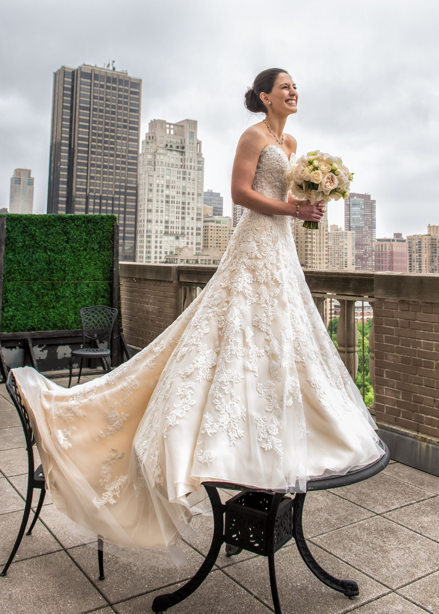 New York Bride On A Rooftop