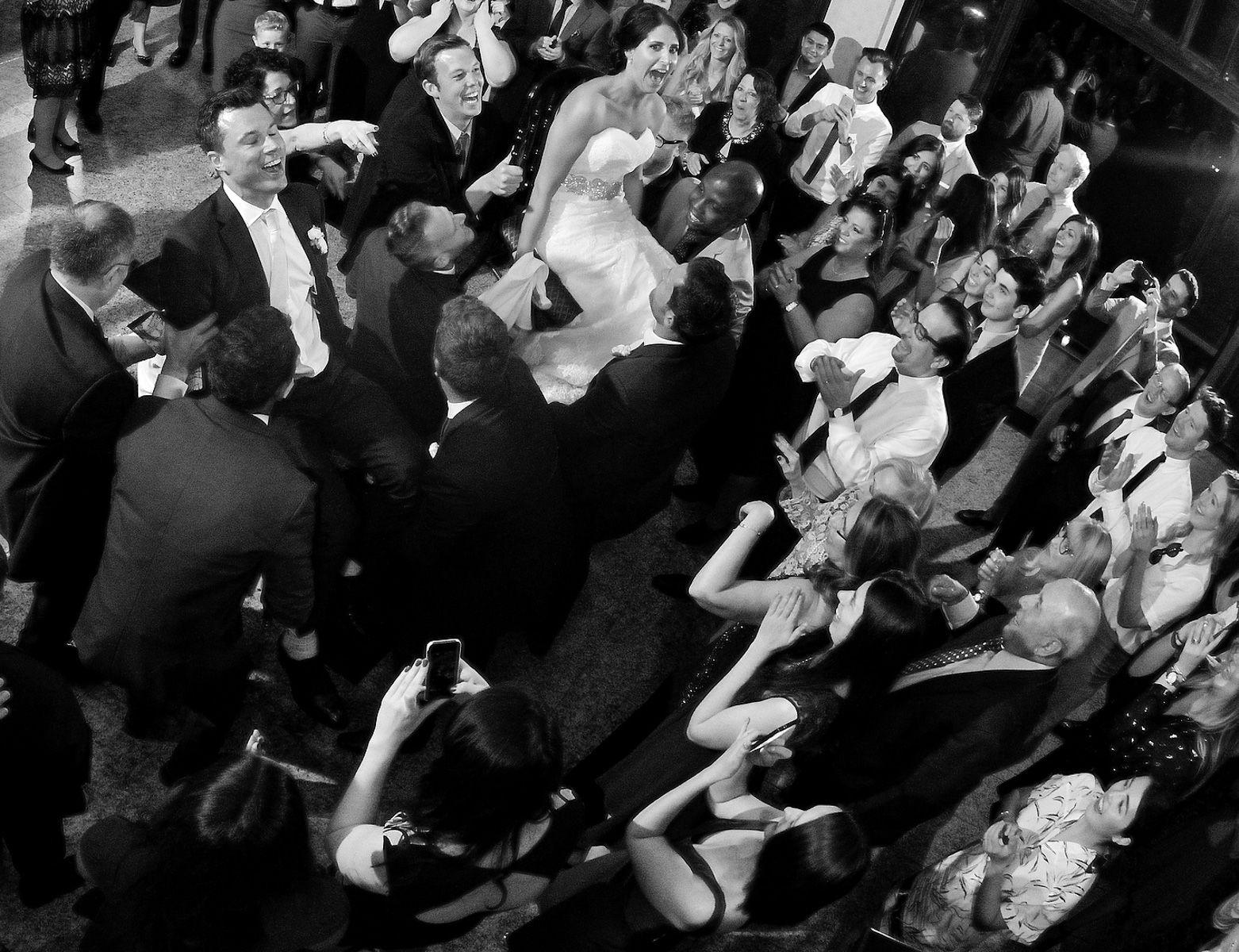 Orthodox Wedding Hora In Black and White