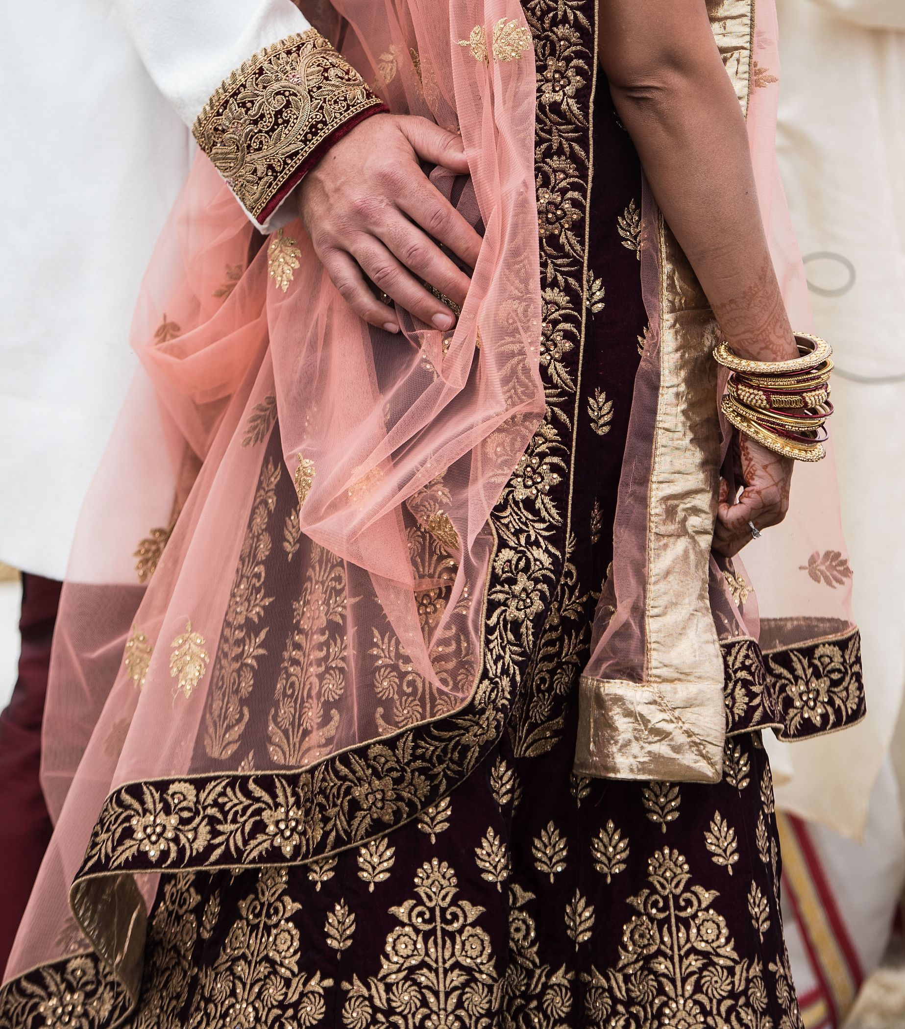 Indian Wedding Gown and Bangles
