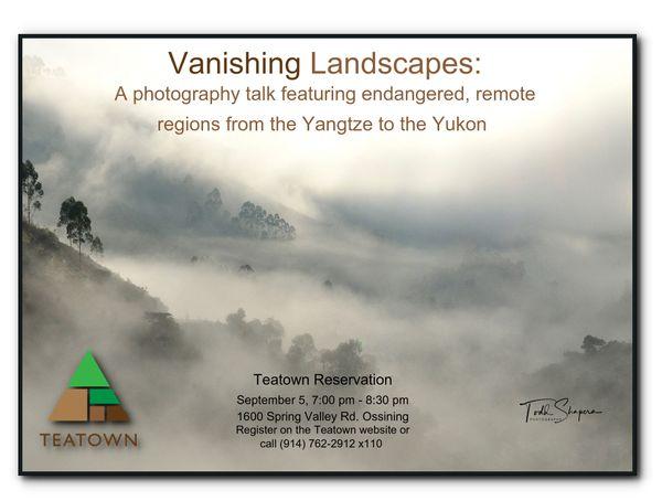 """Vanishing Landscapes"" Talk"