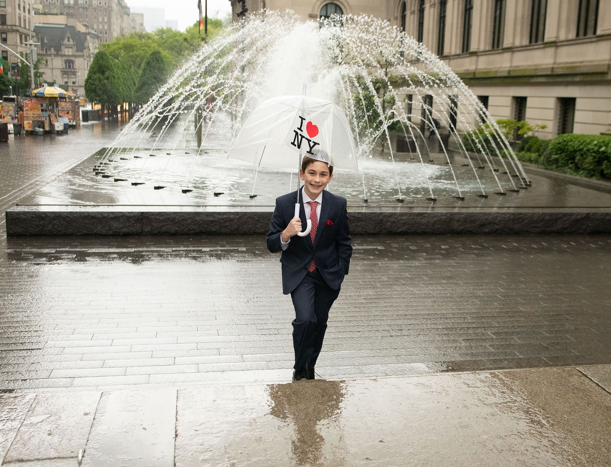 Rainy Day New York Bar Mitzvah Photography