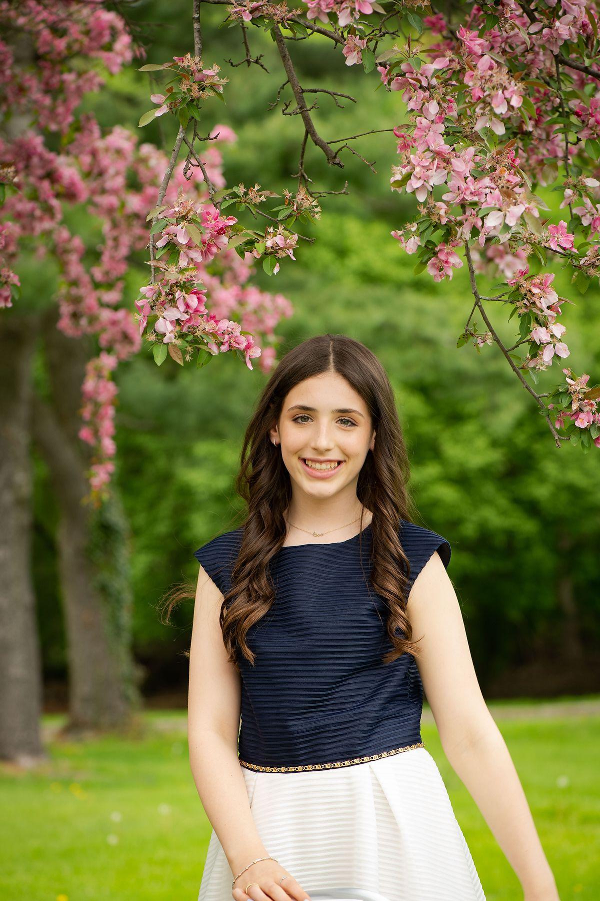 Westchester Bat Mitzvah Portrait in Spring
