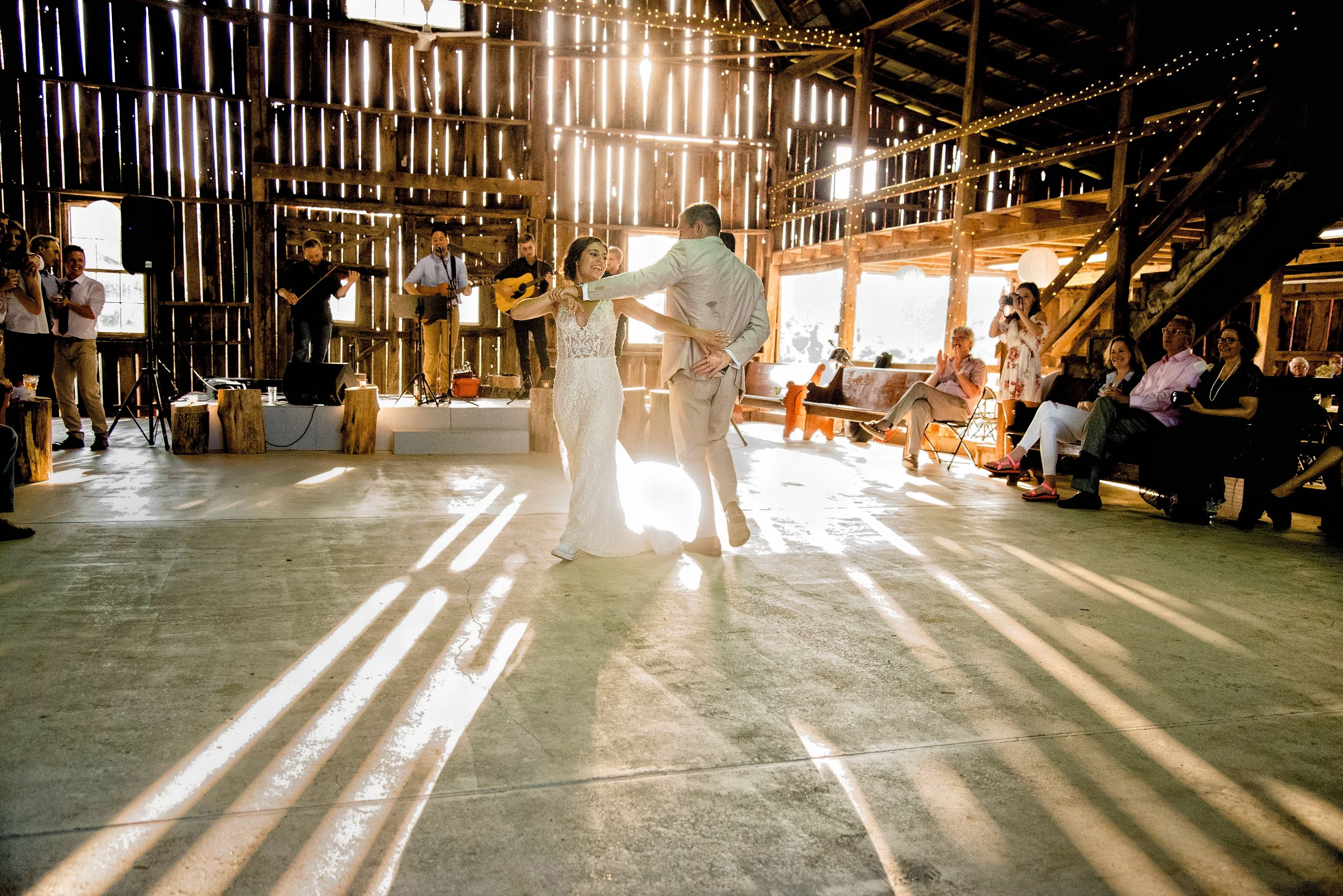 First Dance At The Barn Wedding
