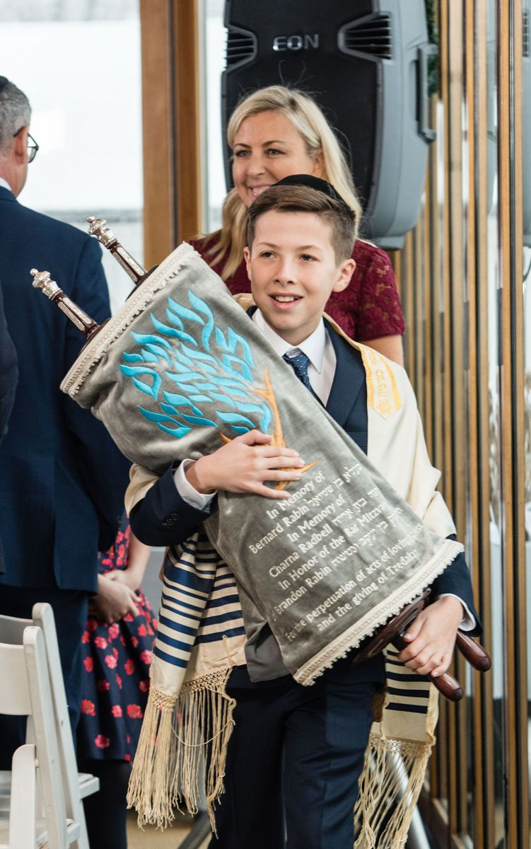 Bar Mitzvah  Photograph With Torah