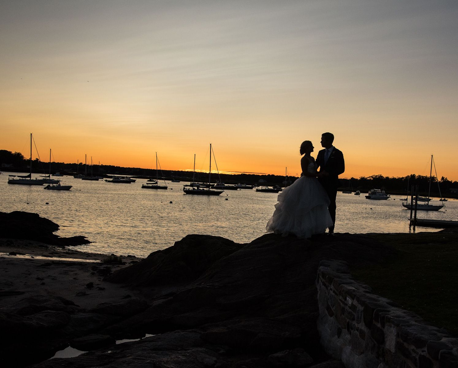 American Yacht Club Sunset Wedding