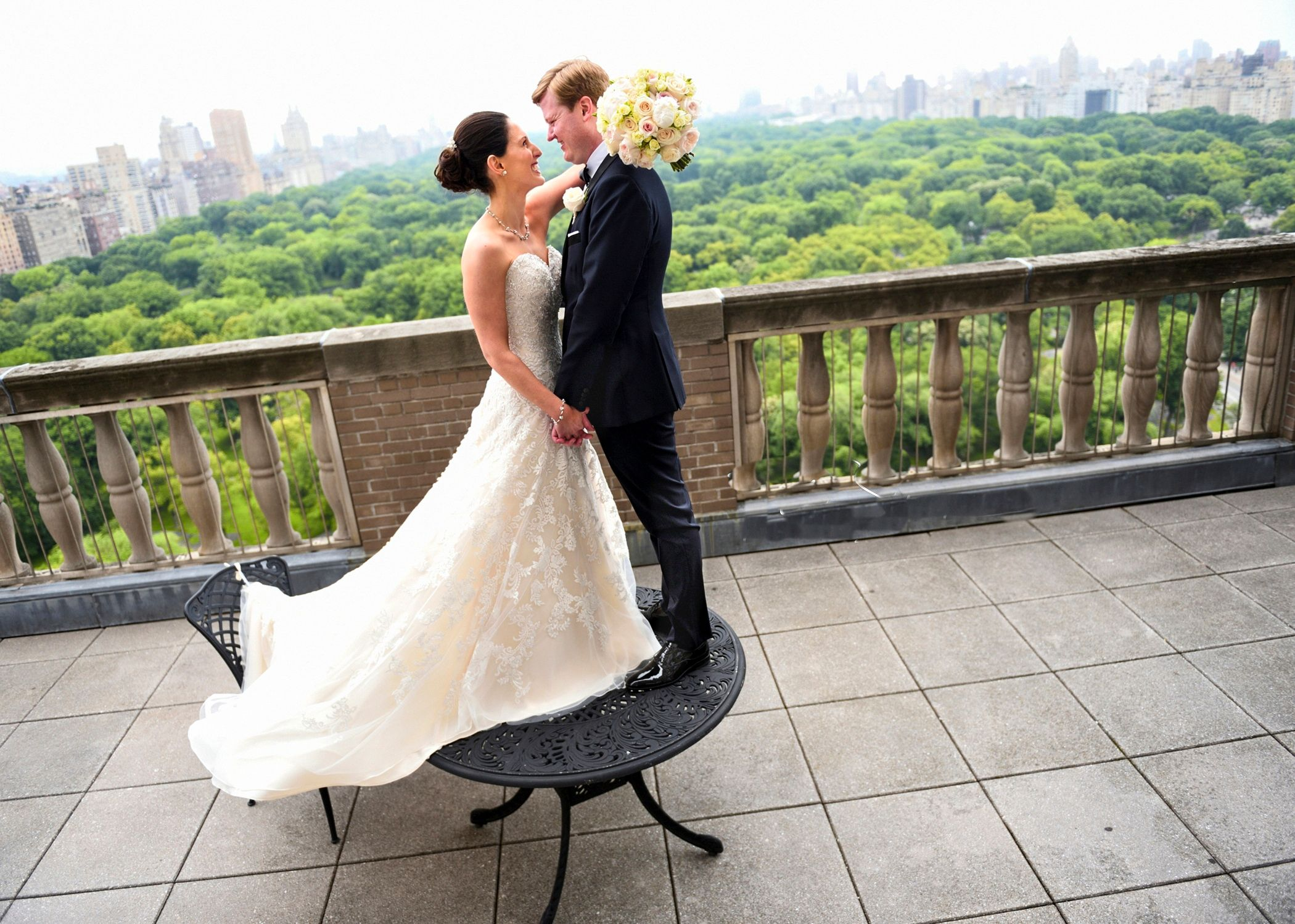 A Central Park Wedding 'First Look'