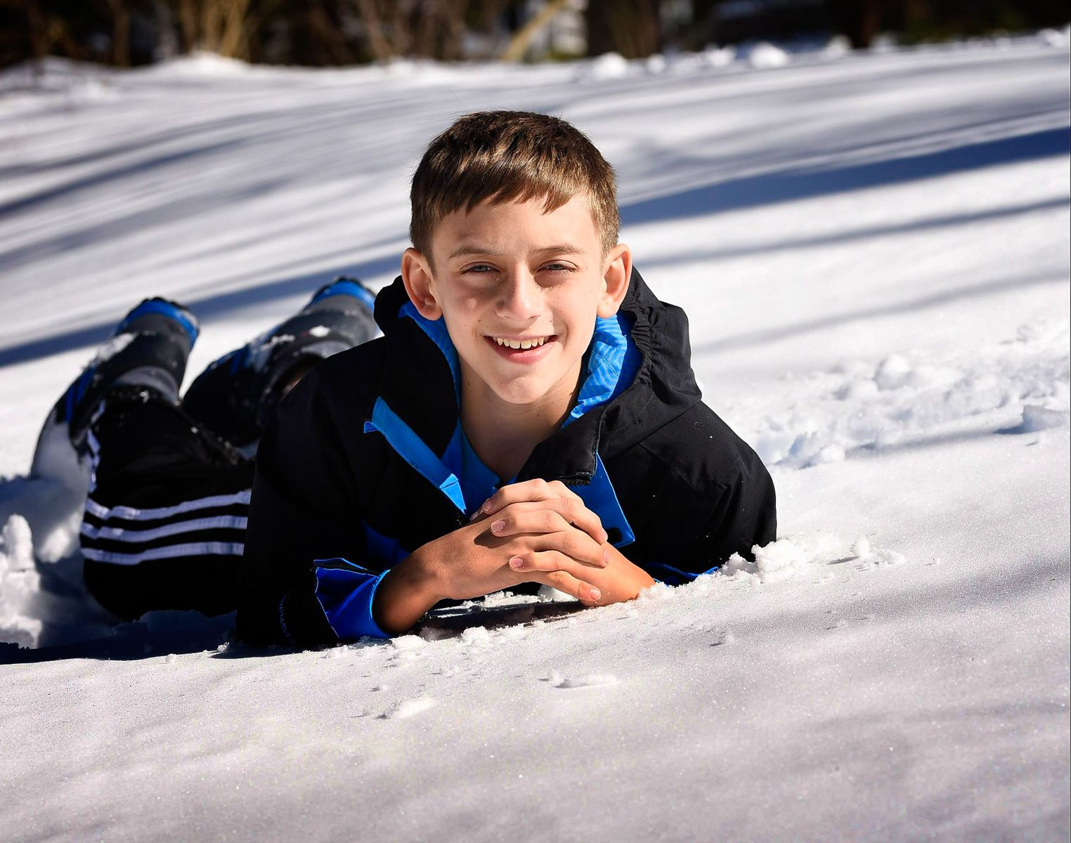 New York Bar Mitzvah Portrait In The Snow
