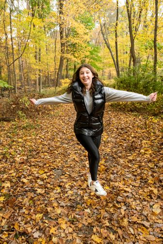 Dancing Bat Mitzvah Portrait In The Preserve