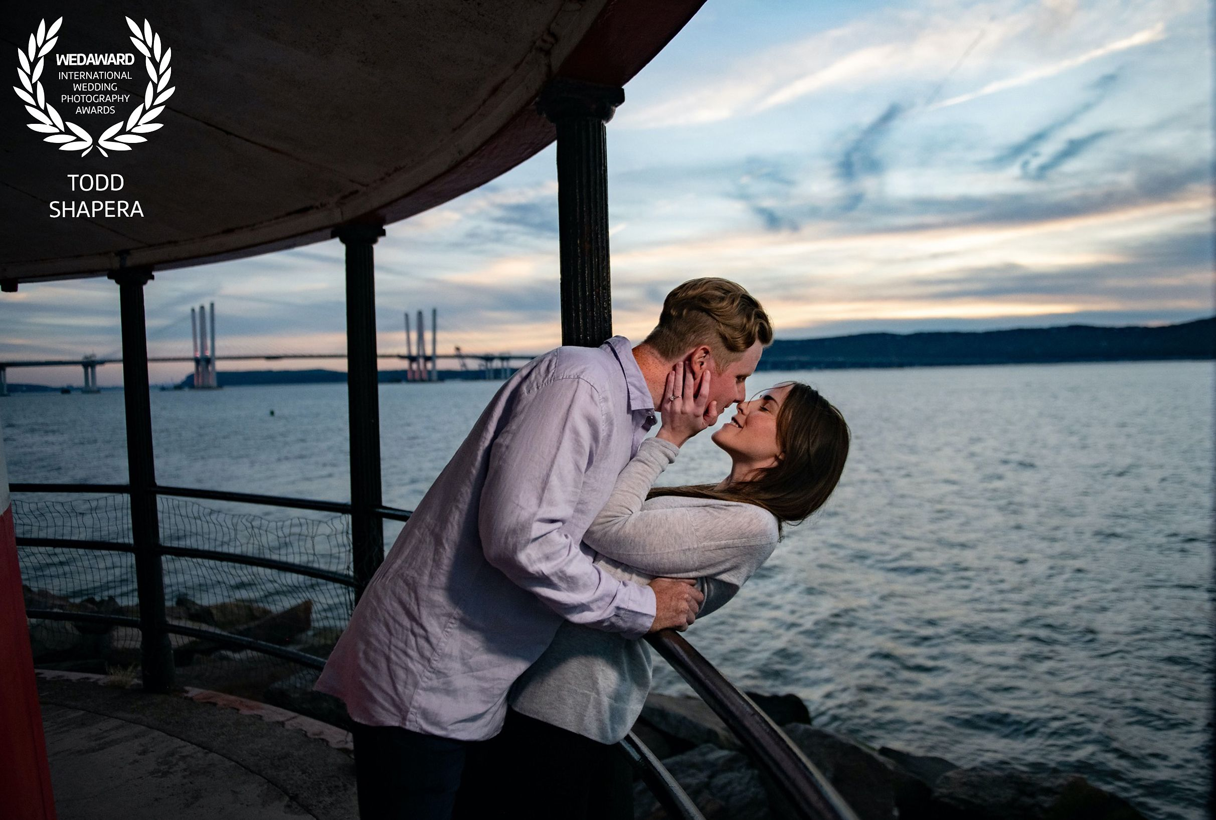 Hudson  River Sunset Engagement
