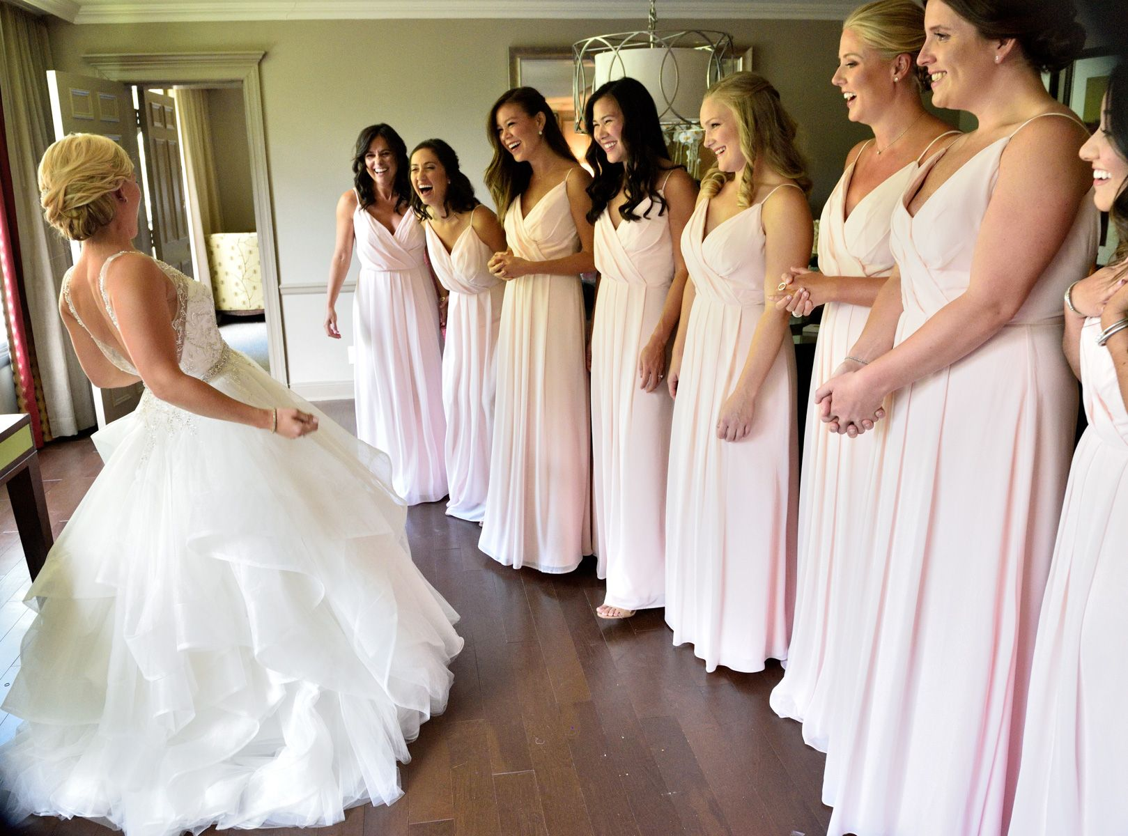 First Look With The Bridesmaids