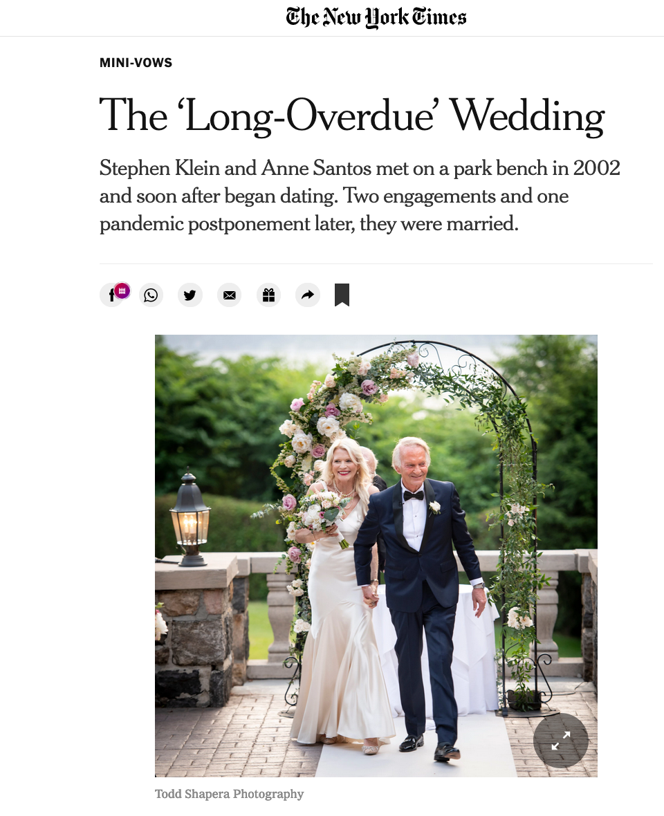 The Times features Anne and Steve's