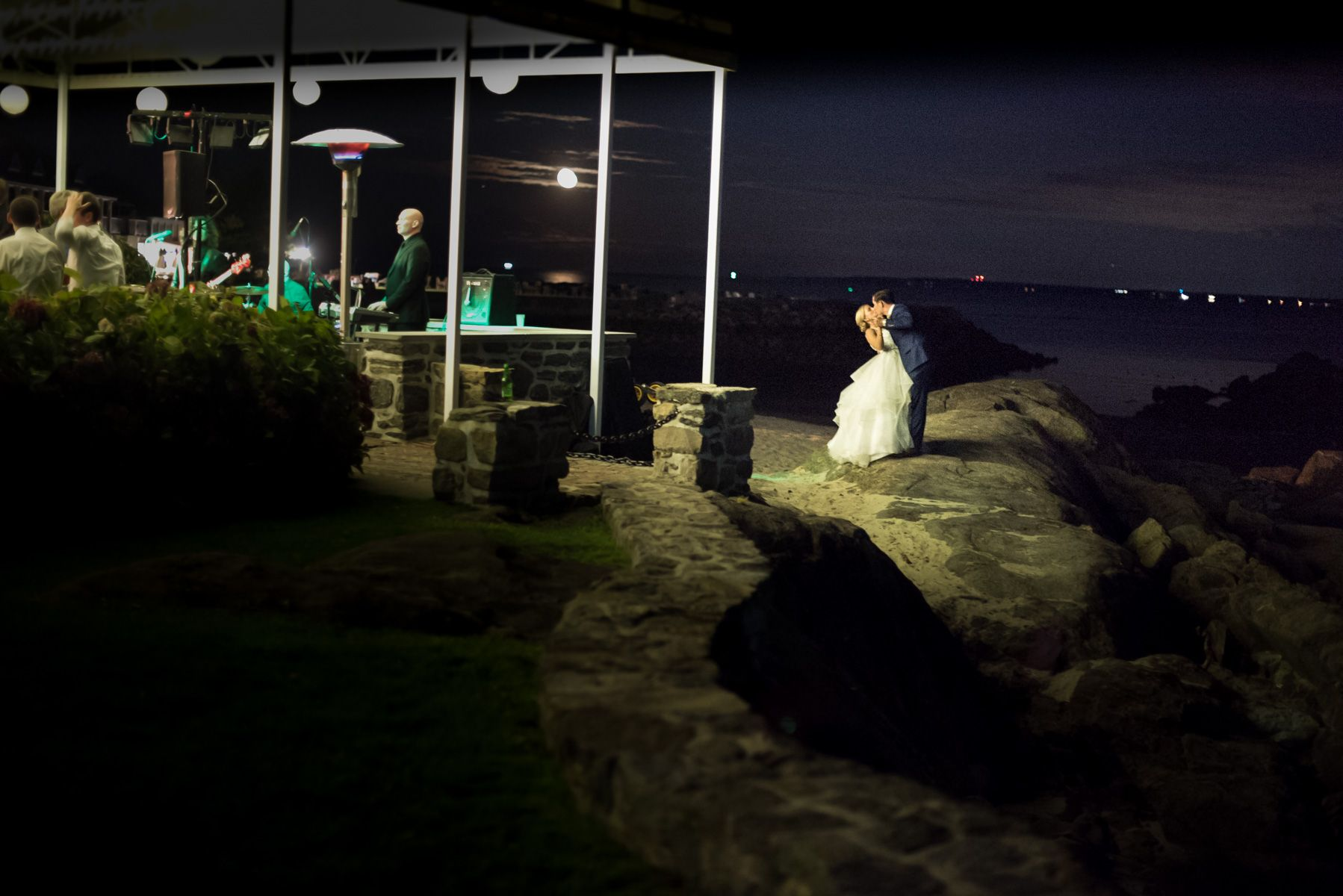 New York Bride and Groom Dancing Under The Stars