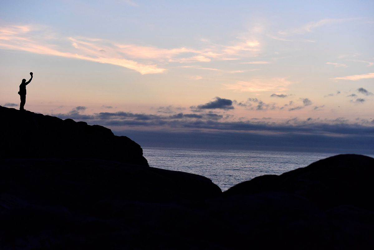 Newfoundland Ocean Sunset In Silhouette