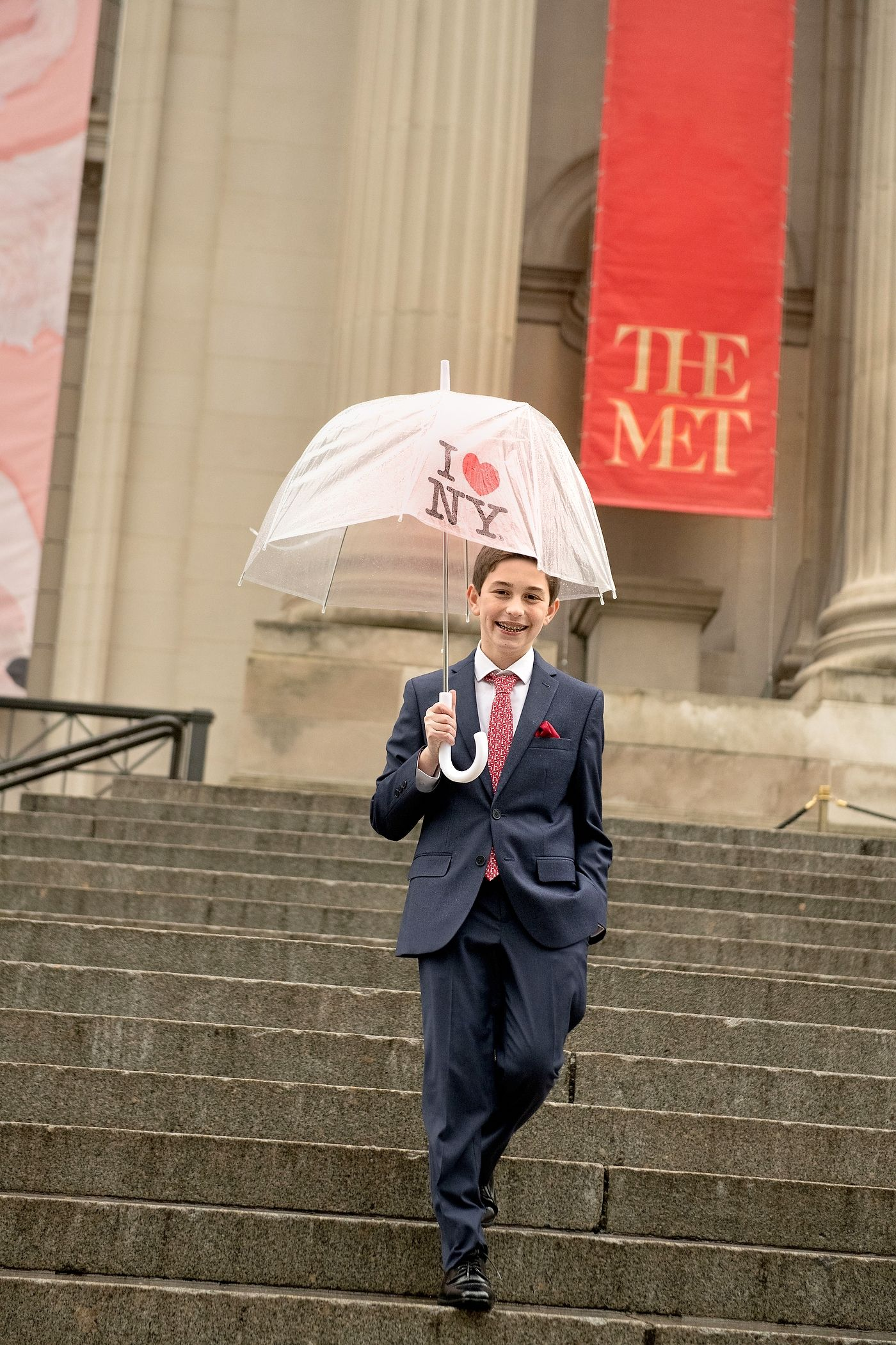 A rainy day New York Bar Mitzvah photo shoot