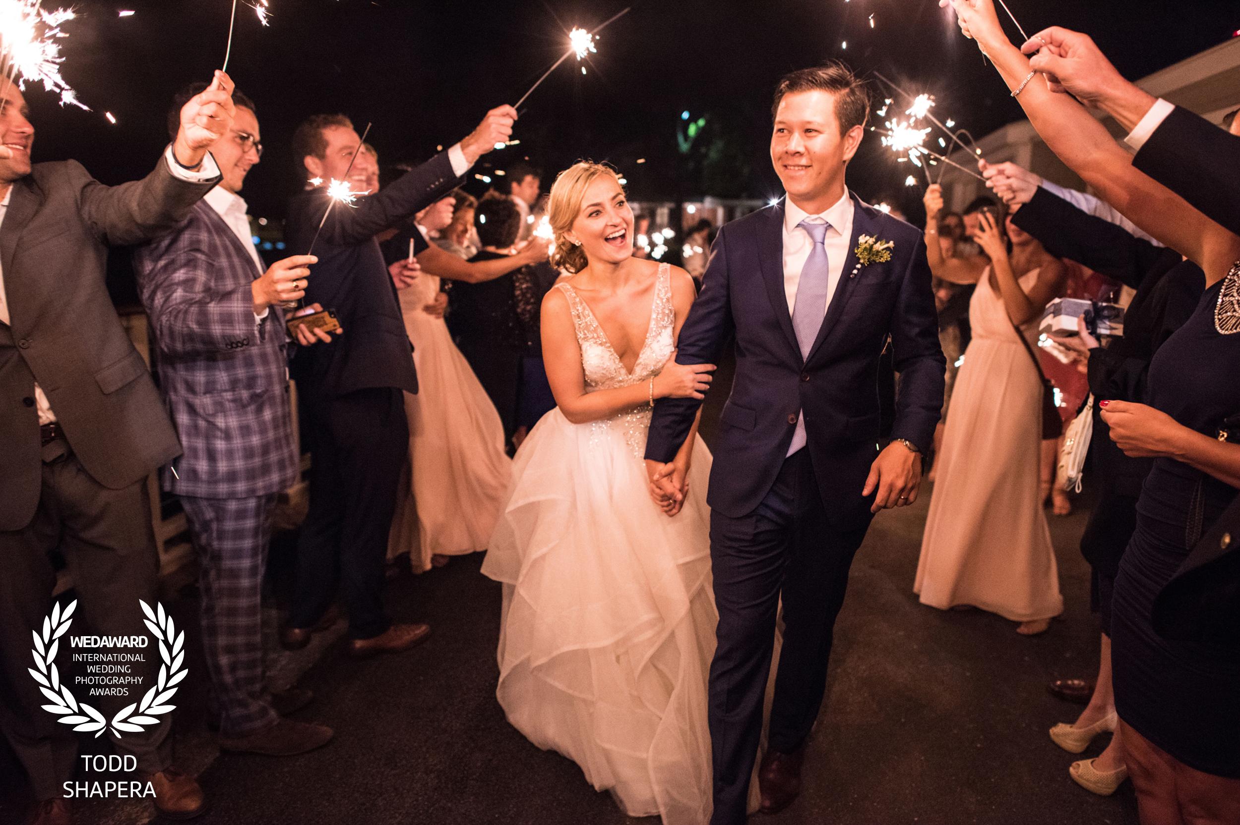 Wedding Reception - Newlywed's Sparkler Send Off