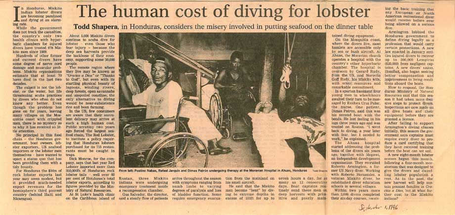 Human Cost of Diving For Lobster