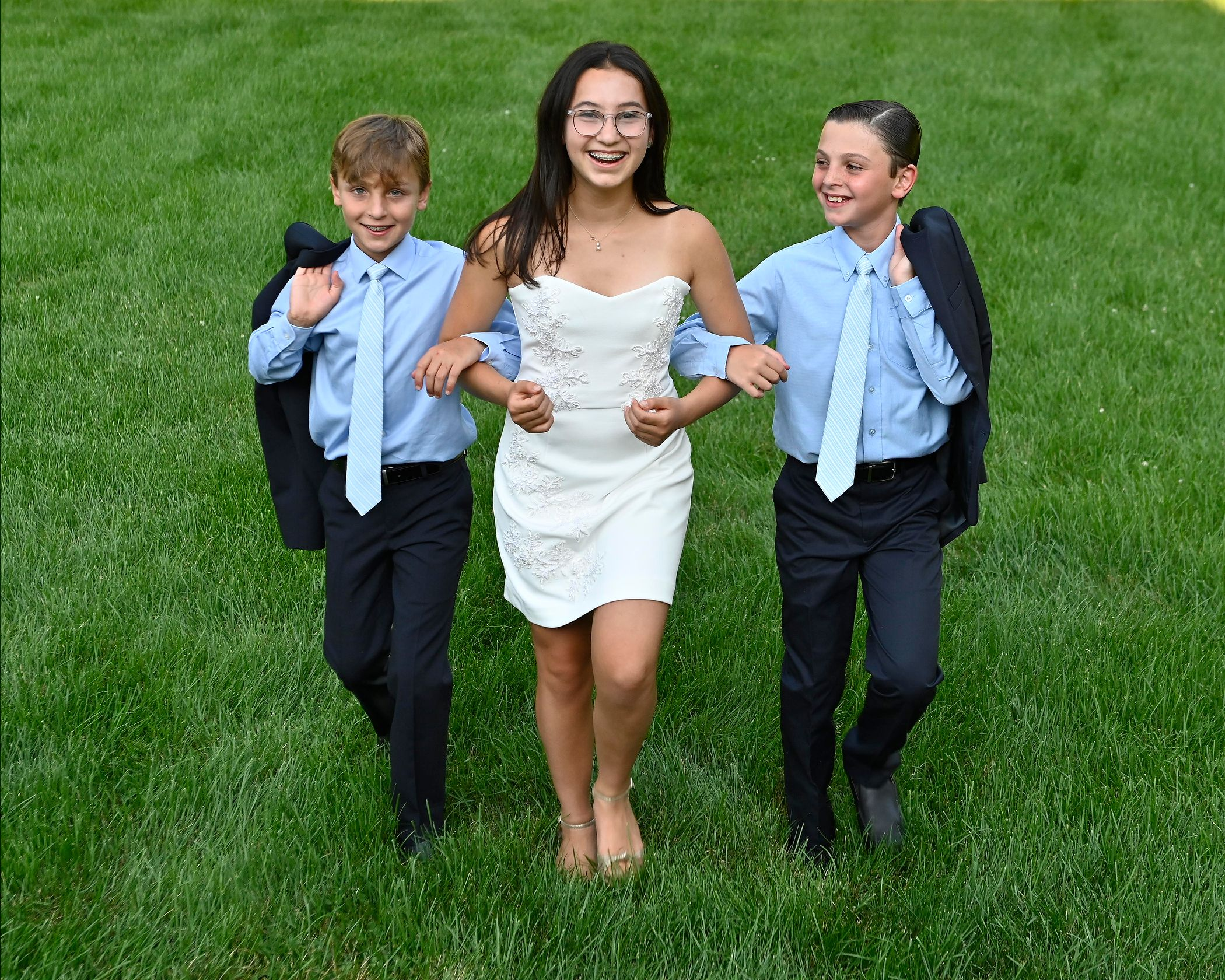 Paley and Her Twin Brothers - Bat Mitzvah Portraits