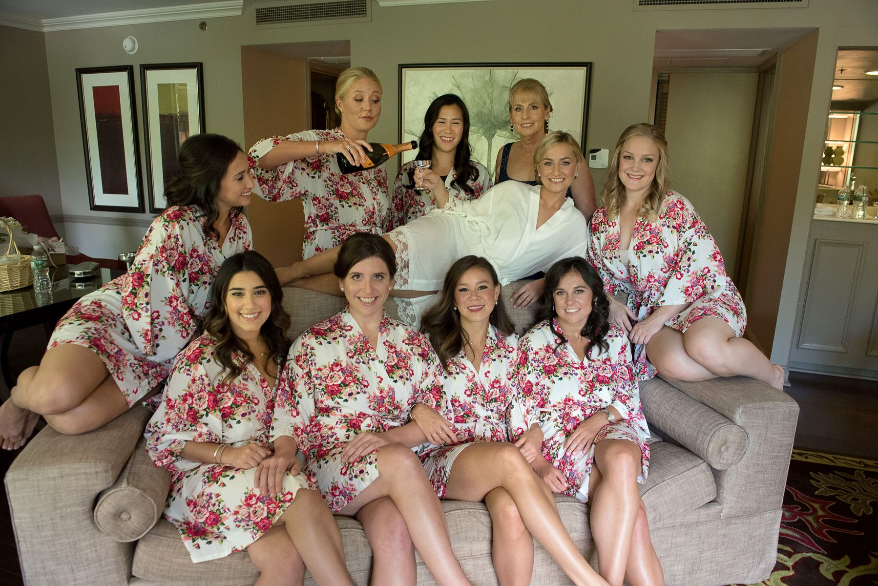 Bridesmaids, Champagne, The Bride