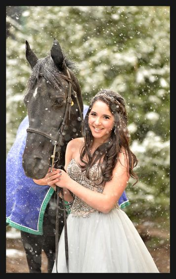 Bat Mitzvah Portrait - Girl With Her Horse